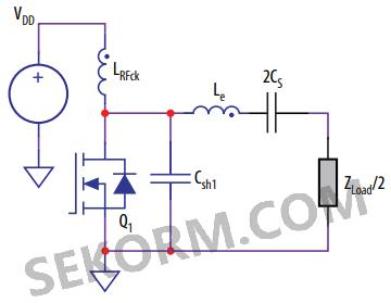 差分e类放大器设计等效电路