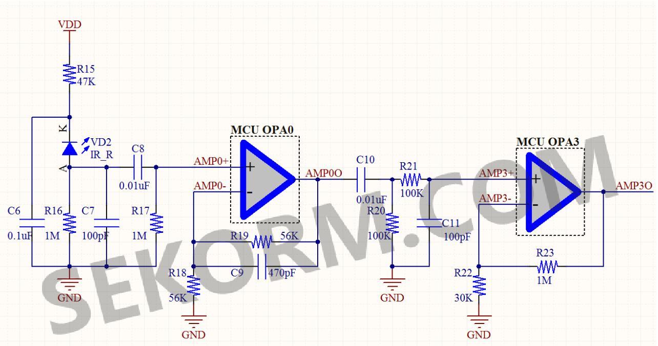 红外接收和信号放大电路