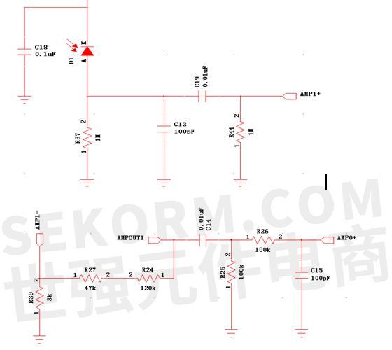传感器信号两级放大电路