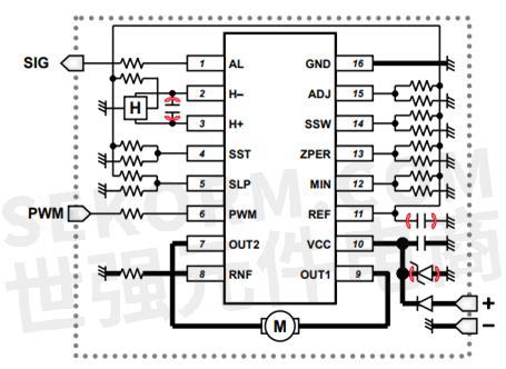 电路如下:         bd61246efv 直流无刷风扇电机驱动ic突出特点与