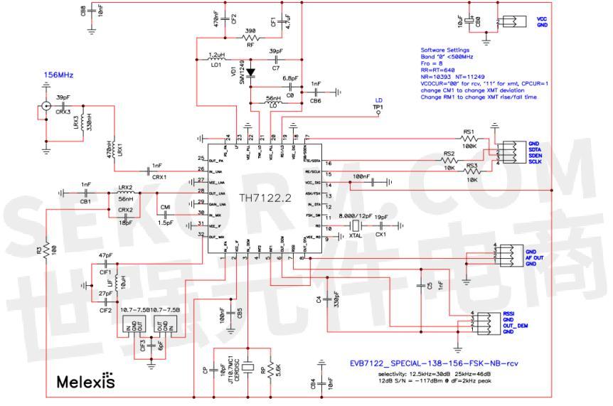 th7122仅接收电路