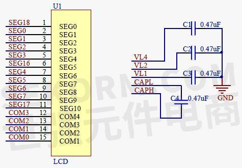 由于本系统使用的lcd 面板工作电压为3.