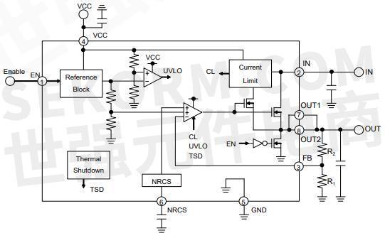图3:低压差线性稳压器bd3506f典型应用电路 低压差线性稳压器bd3506f