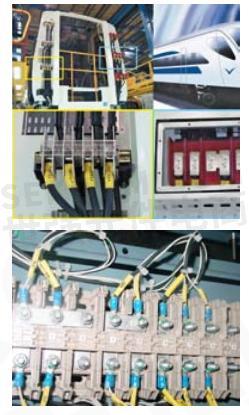 魏德米勒的weicos系列插拔式接线端子可用于门控和驾驶室中.