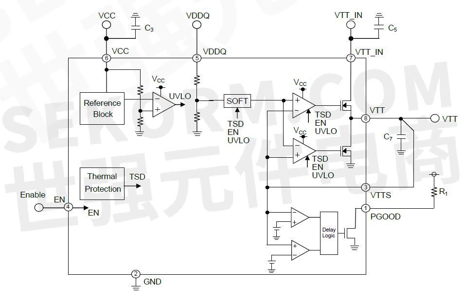 终端稳压器bd35390fj典型应用电路