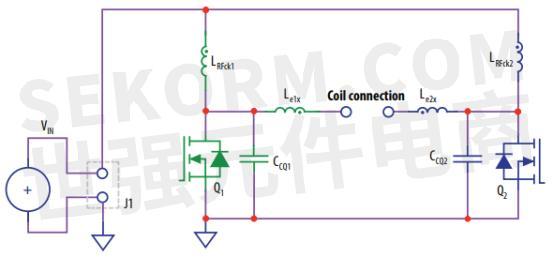 差分模式e类放大器epc9058开发板电源电路原理图
