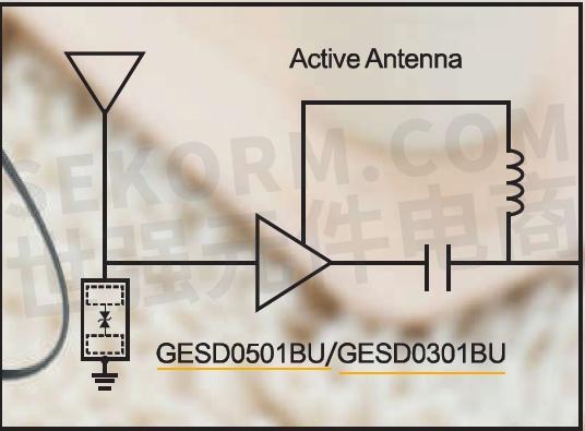 【应用】低电容tvs二极管gesd0501bu和gesd0301bu为蓝牙耳机天线接口