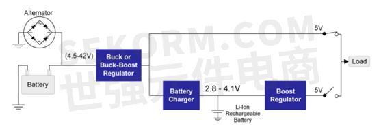 汽车电池备用系统原理图