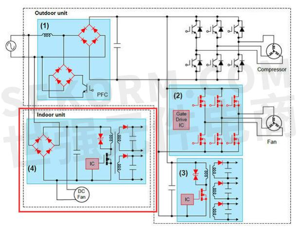 图3  空调电路图