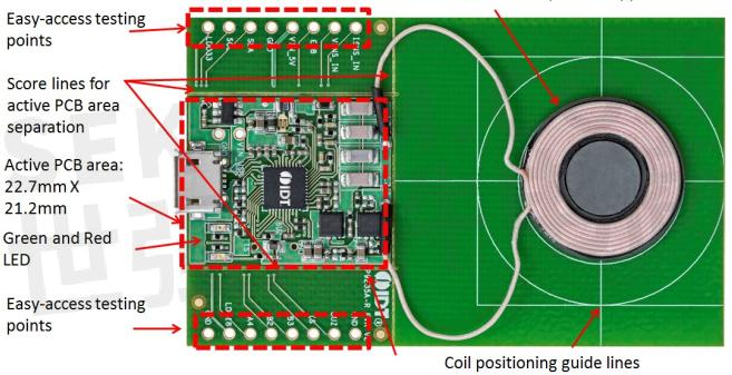p9235a-r无线功率发射电路板的设计目标是,高性能,小尺寸,使用简单
