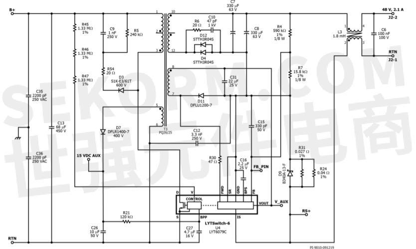 电源部分电路原理图