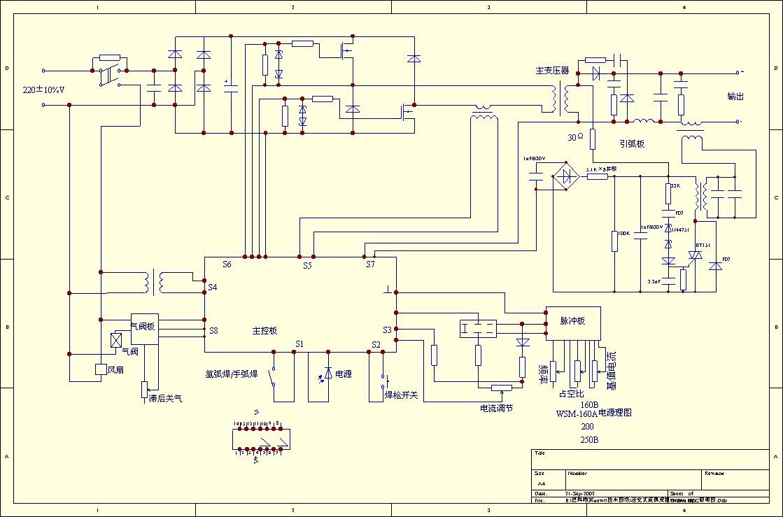 该电路图包括ac/dc三相一次整流,滤波,dc/ac三相逆变,变压器降压及