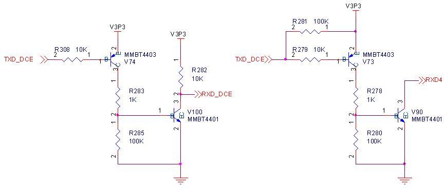 串口 内部电路图