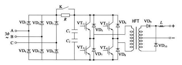 igbt 逆变焊机电路原理图