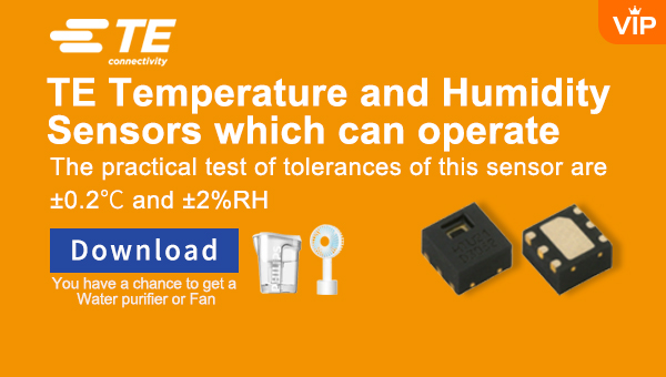 TE Temperature and Humidity Sensors which can  ope