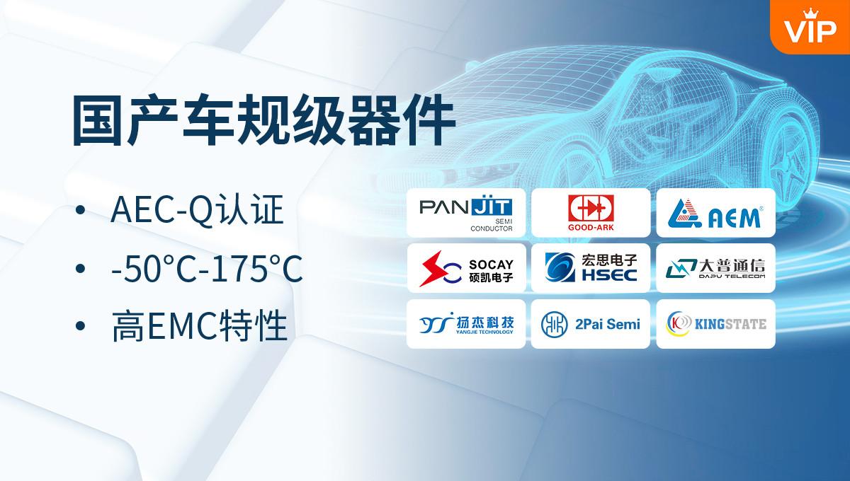 国产车规级器件,温度范围-50℃-175℃