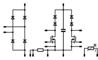 FlowPFC0的原理图,在这基准平台中只用1相BOOST