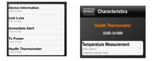 温度检测页面